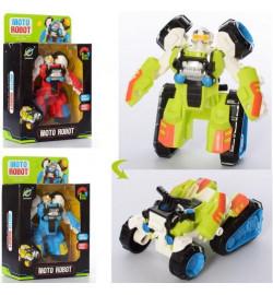 Трансформер 339-90 (72шт) робот+квадроцикл, 10см, 3цвета, в кор-ке, 13-20,5-6см
