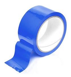 Скотч упаковочный синий 200м S-200B (36шт)