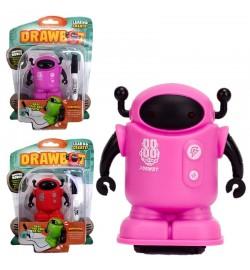 Индуктивная игрушка DB3-1 (48шт/2)робот,едет по нарис.линии, на планшетке 17*23*5см