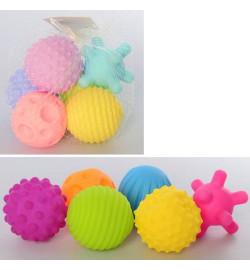 Игрушка KM261-261A (96шт) для купания, 6шт, 7см, пищалка, 2вида, в сетке, 20-10-11см